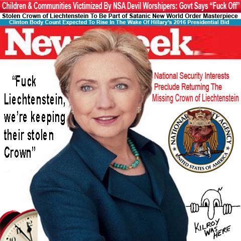 Hillary Newsweek Cover Fuck Liechtenstein